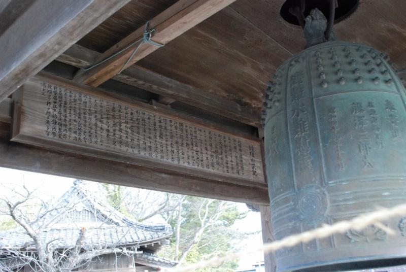 江戸時代、住吉大嶋神社の境内にあったという寿福寺の鐘楼