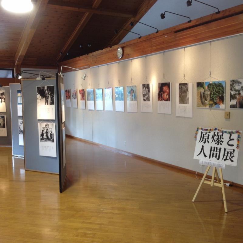 地元の図書館で毎年開催される「原爆と人間展」