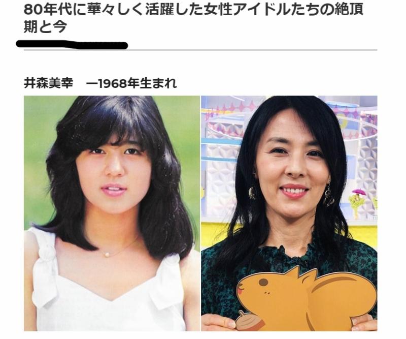 左は石野真子の若い頃ですね。顔も歳もぜんぜん違うし、強いて共通点を挙げれば「おっちょこちょい」でしょうか。