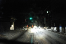 雪の夜の飯舘村(2012年1月)