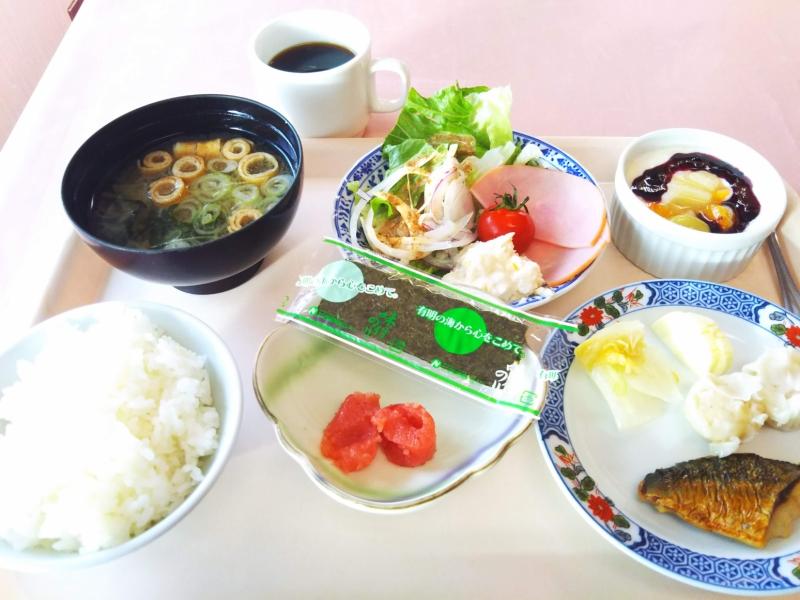 朝食は休暇村のレストランでバイキング形式でいただきました。やっぱり朝食も美味しい!