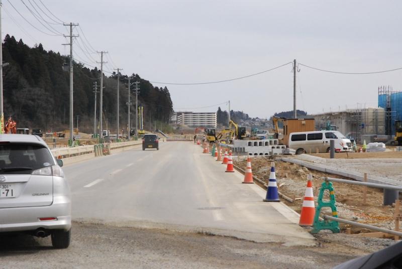 道路の付け替えから10日ほど経過した後の景色