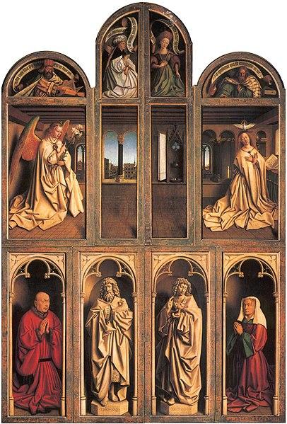 ヘントの祭壇画(ヤン・ファン・エイク)扉を閉じた状態