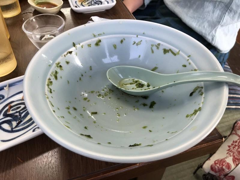 いつもの大好物。うまみたっぷりの「のりラーメン」をスープまで飲み干して