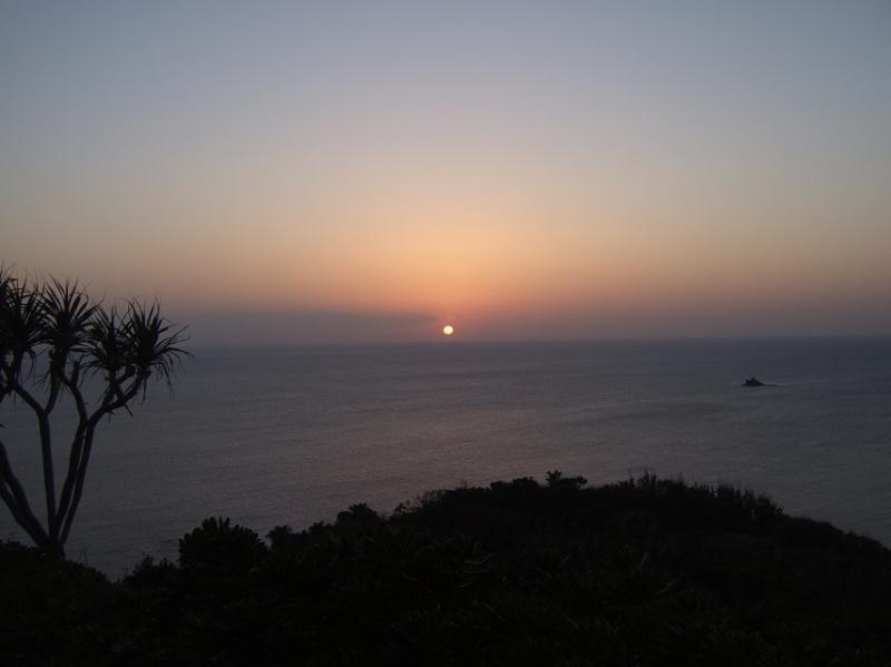 沈む夕陽(このあと!・・・だったが撮れなかった)