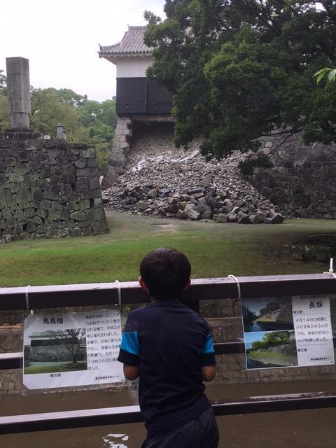 石垣の崩れた馬具櫓