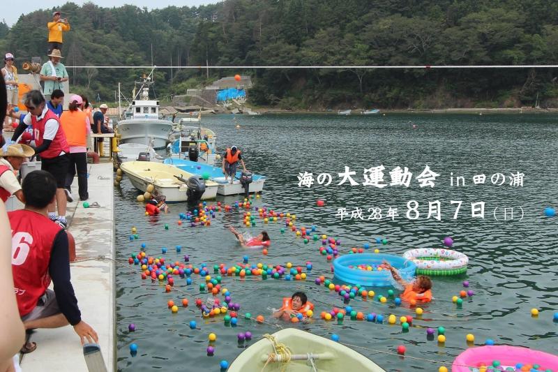 「8/7(日)海の大運動会in田の浦!!」より
