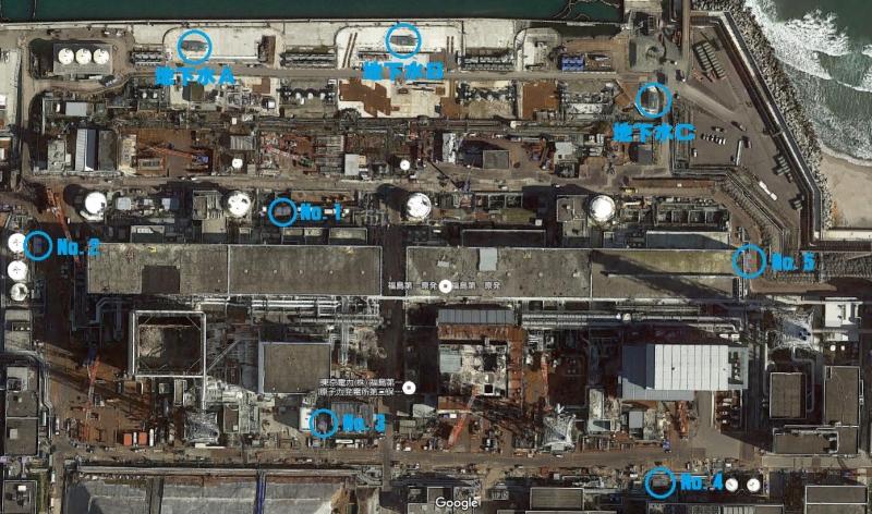 中継タンクの位置(Google Mapに加筆)