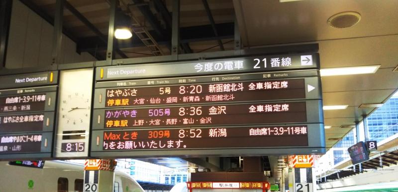 東京駅で8:20の「はやぶさ」に乗り換え。