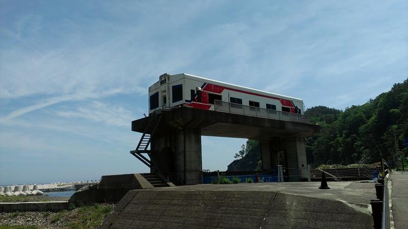 有名な三陸鉄道デザインの水門も田野畑駅近くにあります。
