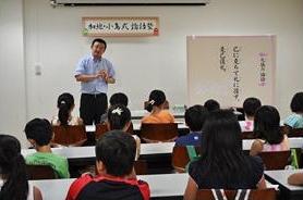 『昨夏は2回のみの講座が、今夏は全12回プログラムに。論語の魅力がわかる貴重な学び場。』2012年8月開催『加地・小島式論語塾 東大教室』(C)フジテレビKIDS