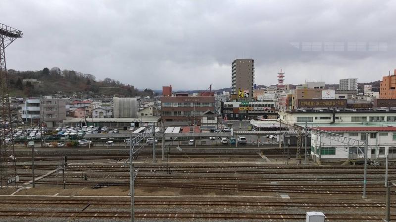 一ノ関駅の新幹線ホームから