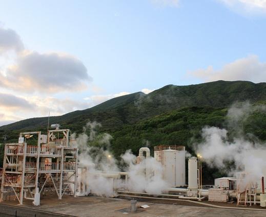 八丈島・地熱発電所