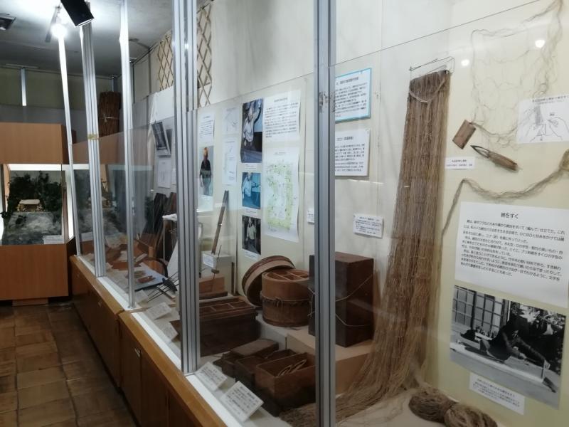 漁に使われていた道具が展示されています