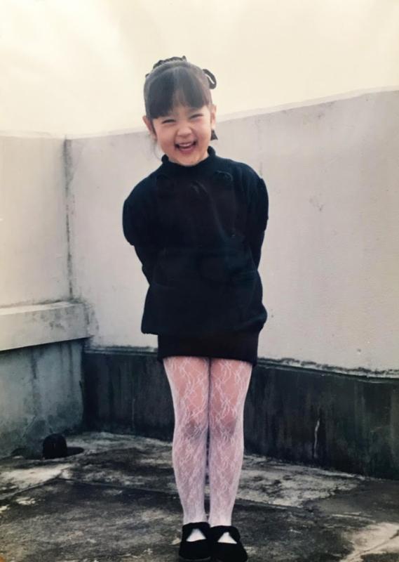 バレエを習っていた小学生時代はふっくらしていた。