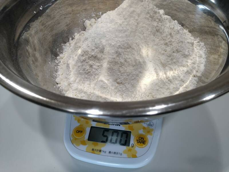 小麦粉の計量