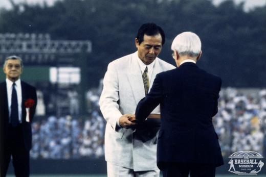 王貞治氏の野球殿堂入り表彰式|出典元:野球体育博物館創立50周年記念特別サイト