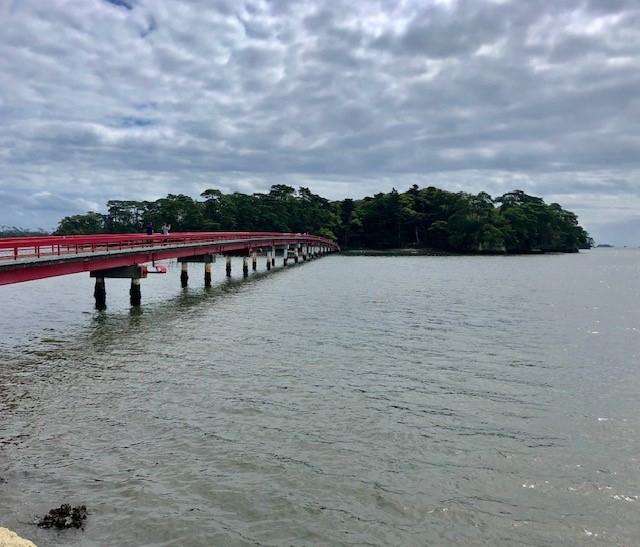赤い橋は福浦橋