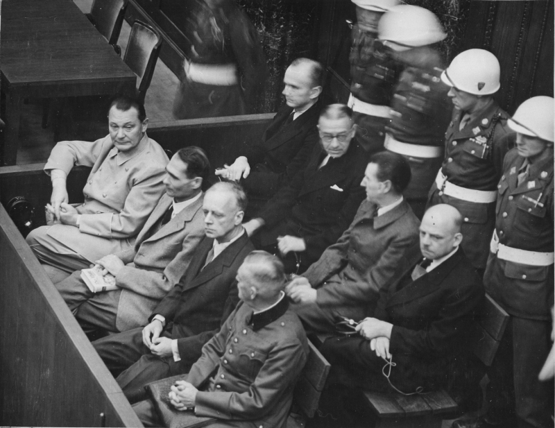 ニュルンベルク裁判の被告席