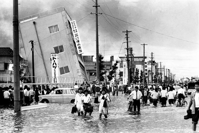 明石通(写真/新潟日報社) | 新潟地震記憶マップ | 防災・減災新潟プロジェクト2014