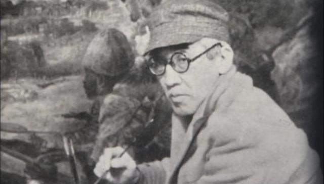 陸軍美術協会理事長時代の藤田