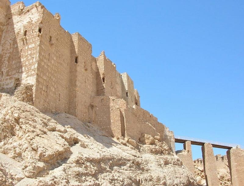 威容を誇るパルミラのアラブ城砦