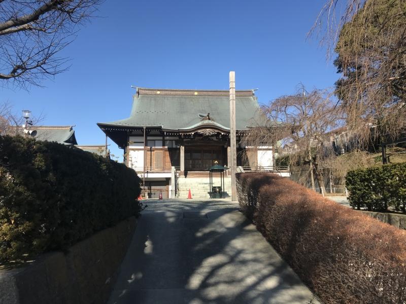 国分寺の本堂です。荘厳な雰囲気を醸し出しています。