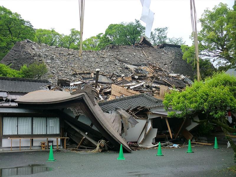 倒壊した熊本大神宮
