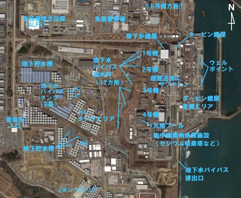 「日報」に登場する主な施設(Google Mapに加筆)