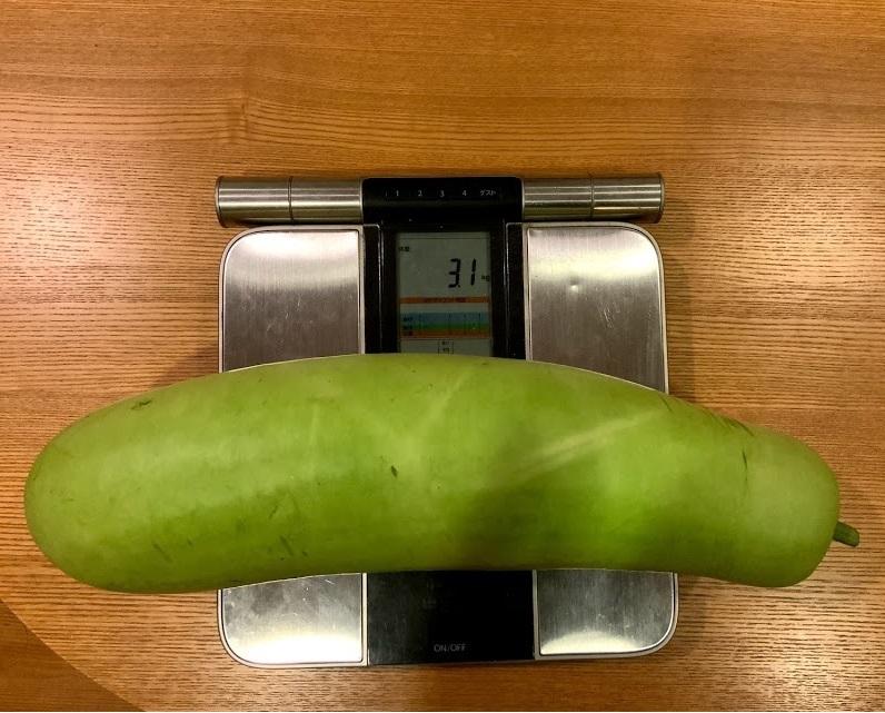 重さもしっかり測ります。