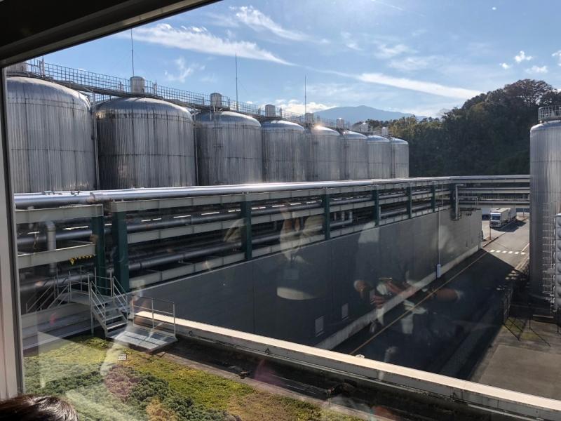 直径8.5m、高さ20mの屋外発酵熟成タンク