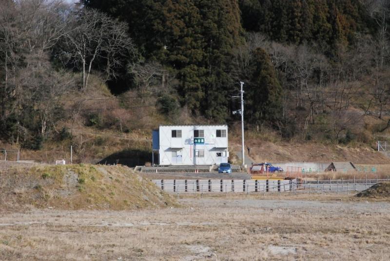 先月閉鎖された小谷園の旧仮設店舗