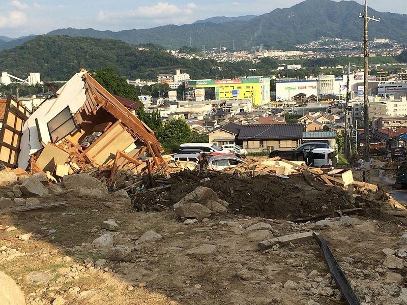 2014年08月20日に発生した広島土砂災害の写真