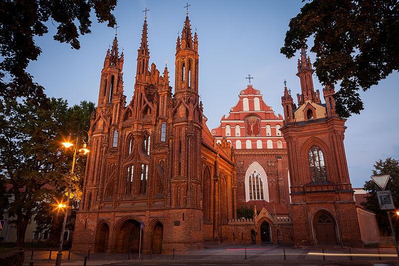 リトアニアの首都・ヴィリニュスにある「聖アンナ教会」