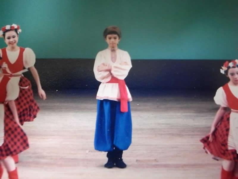 バレエ教室の発表会。当初は男子の生徒は一人だけだった。