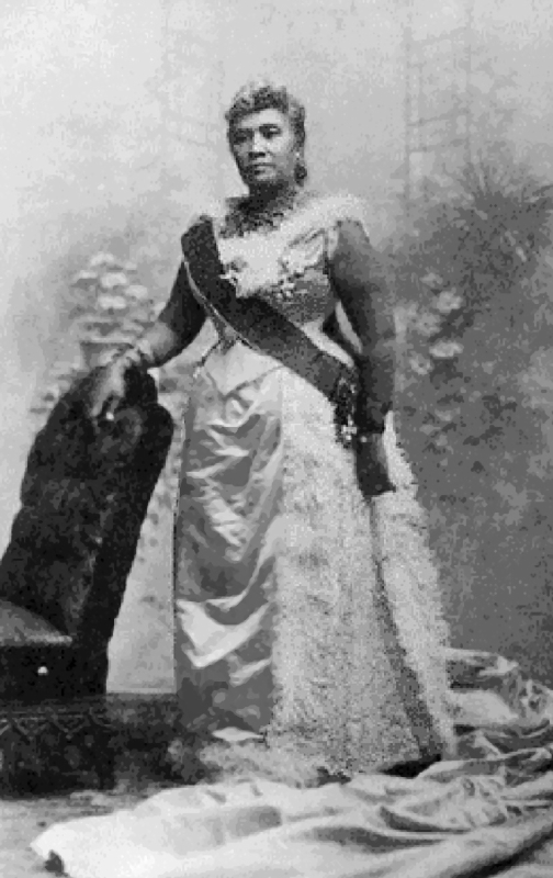 "リリウオカラニ女王(""Hawaii's Story by Hawaii's Queen, Liliuokalani"" Lee and Shepard、published 1898)"
