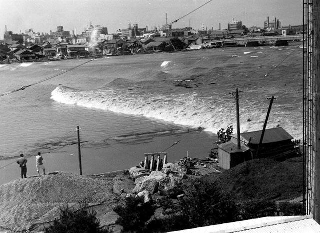 八千代橋(写真/新潟地方気象台) | 新潟地震記憶マップ | 防災・減災新潟プロジェクト2014