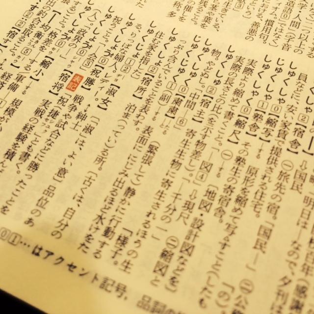 「新明解国語辞典」第五版 三省堂