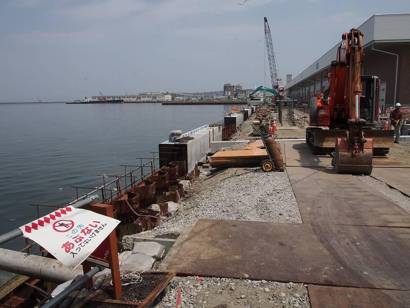 工事をしていた港