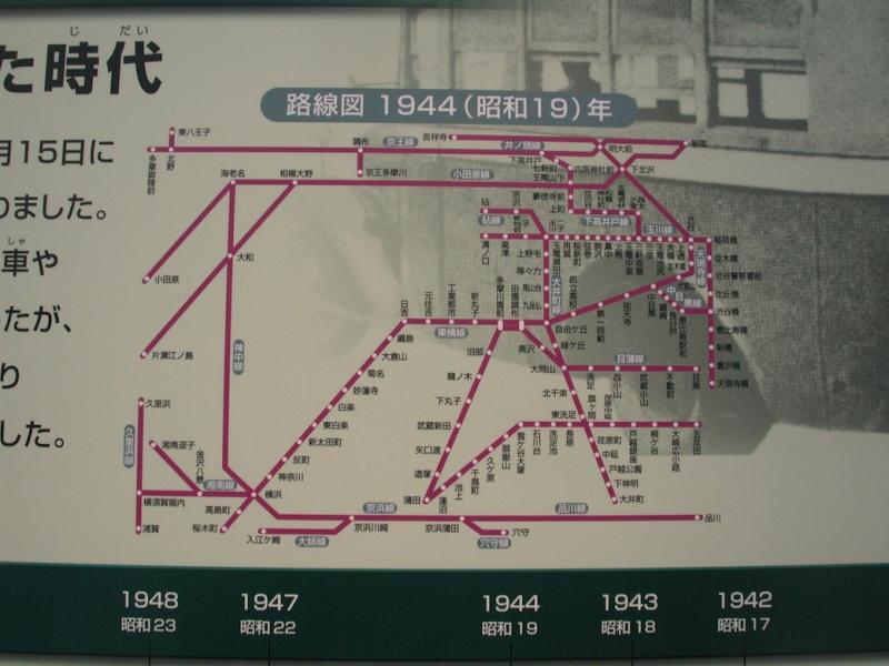 大東急時代の路線図