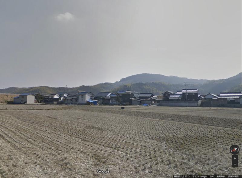 被災前の小田川支流付近