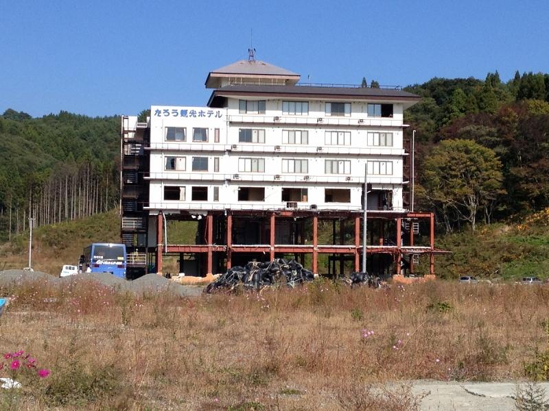 震災遺構として残されることになった「たろう観光ホテル」