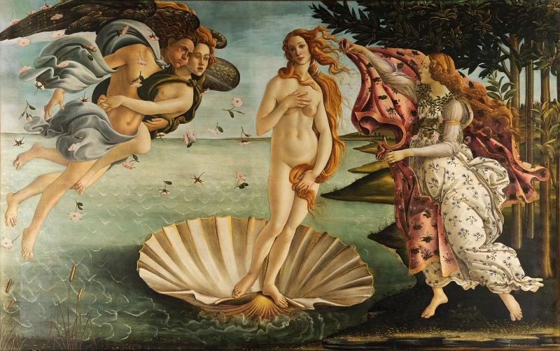 ヴィーナスの誕生(サンドロ・ボッティチェッリ)1483年頃