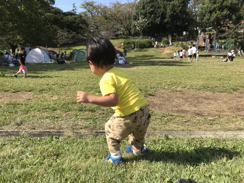 運動会の日もこの日のように晴れてほしいです・・・!ちなみに、今回の運動会は年少さん以上なので、君の出番はありません・・・。来年は園児全員が参加できるといいね!
