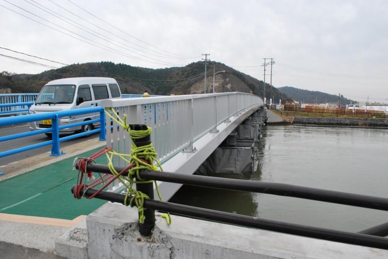 仮修復された内海橋(2012年)