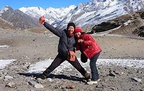 娘9歳 インドヒマラヤ標高3980メートルにて。