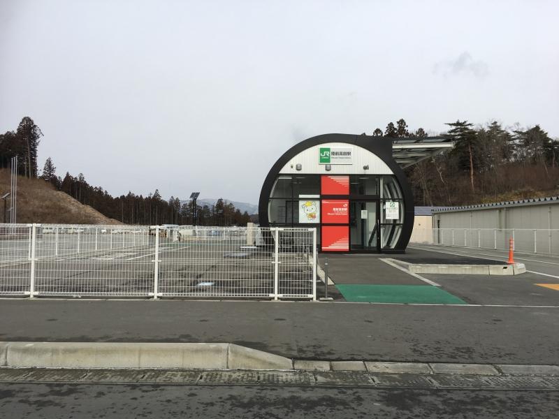 気仙沼~盛岡間の電車が開通しておらず、バスの移動となります