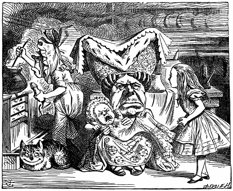 Illustration by John Tenniel, published in 1865 in Alice's Adventures in Wonderland.(wikipedia commonsより)