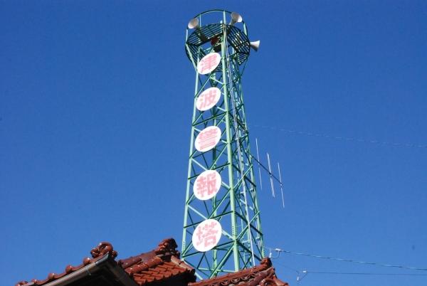 加茂神社の津波警報塔