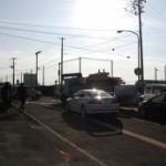 津波警報発令、多賀城市高崎町の状況